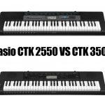 Casio CTK 2550 vs CTK 3500